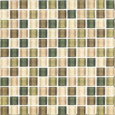 "#Interceramic - Interglass Shimmer Blends Foliage 1"" x 1"" Mosaic"