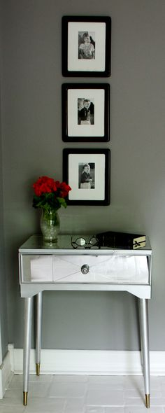 Great tutorial for a DIY Mirror Table!