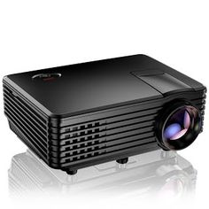 """""""Features & Benefits"""" Projector, TENKER RD805 Mini Projector, Portable Home Cinema HD LED Video Movie Projector Support 1080P USB VGA HDMI AV, Compatible with Amazon Fire Stick TV Smartphones iPhone iPad, Black"""