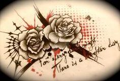Trash polka roses by dazzbishop