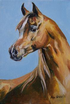 horse portrait pinned to Nancy carver's art of the horse board, a very nice board with thousands of horse pics.