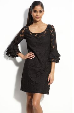 muse eyelet shift dress-you just can't go wrong with a  little black dress...