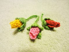 Бутон розы Rose bud Crochet
