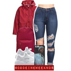 11/10/15 by codeineweeknds on Polyvore featuring mode, Herschel Supply Co. and NIKE