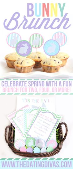 Fun little Bunny Brunch for an Easter or Spring activity. Includes FREE printables! www.TheDatingDivas.com