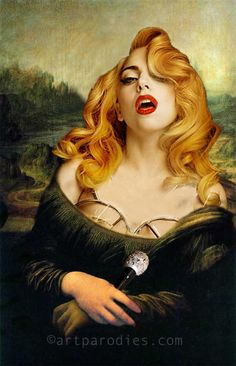Lady Gaga as Mona. artparodies.com