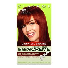 Clairol Balsam Lasting Color Crème Signature Browns Collection 612R Medium Auburn Brown (Pack of 3) * Check this useful article by going to the link at the image. #hairstyle