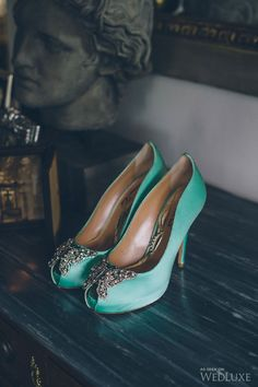 mint green shoes Wedding Sets, Blue Wedding, Wedding Colors, Mint Green Shoes, W Dresses, Green Colour Palette, Different Shades Of Green, Mint Color, Tiffany Blue