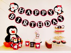 Image detail for -Winter Penguin Birthday Party Package by PinwheelLane on Etsy