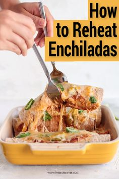 Want to know the best way to reheat enchiladas? This short guide will show you the 2 best options when it comes to reheating this popular Mexican food. Popular Mexican Food, Mexican Food Recipes, Chicken Enchiladas, Sweet Treats, Turkey, Favorite Recipes, Beef, Meat