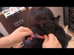 trucos para un peinado recogido sencillo, How to make a hairstyle collected - YouTube