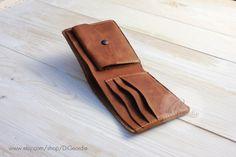 Wallet card holder credit card wallet coin pocket wallets slim wallets billfold wallet minimal wallet brown genuine leather travel wallet