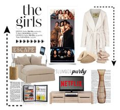 """The Girls. ... Slumber Party"" by conch-lady ❤ liked on Polyvore featuring interior, interiors, interior design, home, home decor, interior decorating, Pier 1 Imports, UGG Australia, MAGIC CHEF and Tom Dixon"