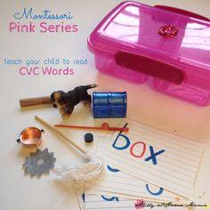Montessori Pink Series: CVC Language Object Boxes ⋆ Study at Home Mama