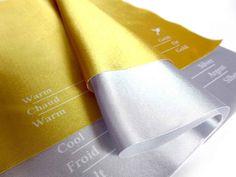 Drape Set Metallic (Gold-Silver) Close-up
