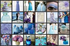 Periwinkle Blue and Lavender Wedding. See more at http://partymotif.com