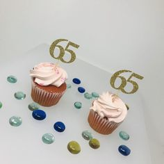 "Excited to share this item from my #etsy shop: 65th Birthday Cupcake Toppers, Birthday Decoration, 65 cupcake toppers, Cupcake topper, anniversary topper, class of ""65 Reunion Centerpieces, Class Reunion Decorations, Graduation Party Centerpieces, Birthday Decorations, Wedding Cupcake Toppers, Wedding Cupcakes, Birthday Cupcakes, Fondant Cake Toppers"