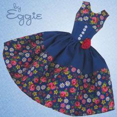 Bright Romance - Vintage Barbie Doll Dress Reproduction Repro Barbie Clothes