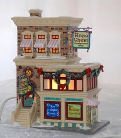 """Dept 56 Snow Village Christmas """"Hope Chest Consignment Shop"""" 55367 Retired 
