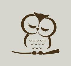 Stencil of owl. Owl drawing (ref Custom Stencils, Stencil Designs, Owl Stencil, Stencil Vinyl, Vinyl Decals, Owl Logo, Owl Crafts, Owl Art, Cute Owl