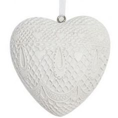 Купить Подвеска белое сердце 9*9 см в интернет-магазине BucaLapi.ru