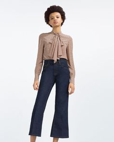 ZARA - COLLECTION SS16 - PRINTED TIE-NECK BLOUSE