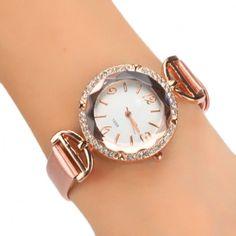 b164f5f87f027 Women Hot Fashion Charming Wrist Watch Rhinestone Analog Quartz Watch
