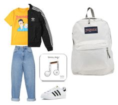 """""""street style"""" by elzikaa on Polyvore featuring Étoile Isabel Marant, adidas, Happy Plugs and JanSport"""
