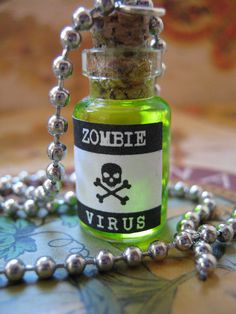Zombie Virus Bottle Pendant