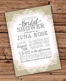 this item is unavailable vintage bridalvintage laceburlap lacebridal shower invitationsshower