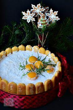 Tort diplomat cu piersici din compot Food Cakes, Croissant, Tiramisu, Cake Recipes, Health Fitness, Food And Drink, Cooking Recipes, Homemade, Caramel