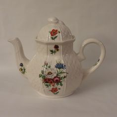 Arthur Wood Floral Basketweave Teapot