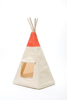 The Algonquin Teepee...A teepee for your cat. This high quality pet bed is a winner that cat's love and looks great too. #catsdiyteepee