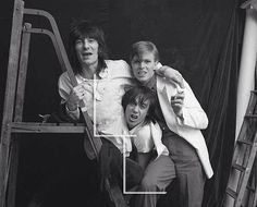 David Bowie,Ronnie Wood and Keith Moon- Thinking of you David.