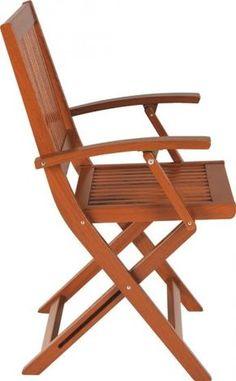 Cadeira com braços Fitt Dobrável de Madeira TERRAZZO FITT - TRAMONTINA