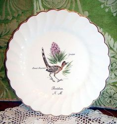 Salem Swirl USA Ruidoso N.M Road Runner Bird Plate #salem