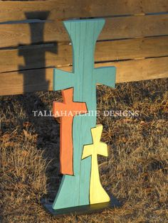 Wood Cross in Cypress of our Three On by TallahatchieDesigns, $65.00