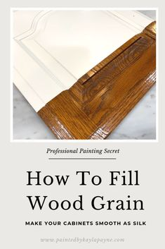 FREE Video tutorial on the easiest way to fill open wood grain in cabinets and furniture NO PUTTY KNIFE NEEDED! Learn tips and tricks from a pro! Diy Kitchen Cabinets, Kitchen Paint, Kitchen Redo, Wood Cabinets, Kitchen Ideas, Kitchen Design, Paint Bathroom, Soup Kitchen, Kitchen Upgrades