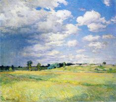 """""""Flying Shadows,"""" Willard Leroy Metcalf, 1905, oil on canvas , 26 x 29"""", private collection."""