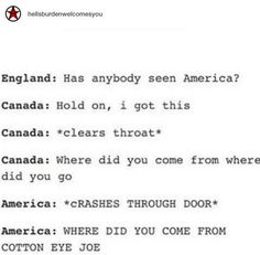 When England lost track of America:
