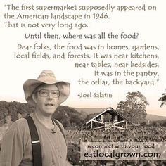 Eat local grown