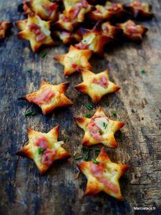 Mini flammekueches étoiles pour l'apéro