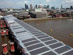 Maior ponte solar do mundo em construção em Londres