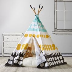 Shop Teepee to Call Your Own (Multi-Dot).  Ideal for a kids room or playroom our kids Teepee to Call Your Own (Multi-Dot) will provide hours of fun.  Shop kids play houses, canopies and tents.