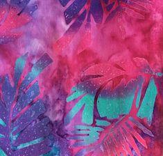 "Batik Tie Dye Floral Fabric  Five - 6""  Cotton Fabric Block Quilt Charm  5 Pieces  # 301-692 by AlwaysInStitchesCo on Etsy"