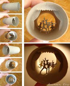 Artista parisiense cria incríveis figuras dentro de rolos de papel higiênico foto: reprodução