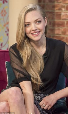 Natural beauty: The enchanting blonde Amanda Seyfried was asked about the bizarre kiss with her co-star Neil Patrick Harris and she revealed it went on for much longer than she would have liked