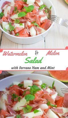 Serrano Ham, Melon a