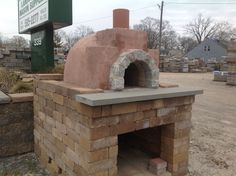Prefab wood fired pizza oven