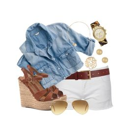Denim is defiantly making a comeback- pair a faded denim top with a floral skirt or pair of shorts. If u want a clean classic look, pair your top with some plain white jeans or jean shorts. Make sure to remember when and when not to tuck it n.